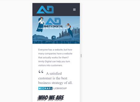 Amity Digital's Website is Responsive