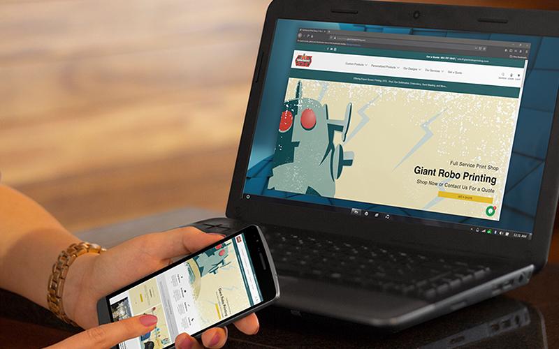Screenshot of Giant Robo Printing for our portfolio